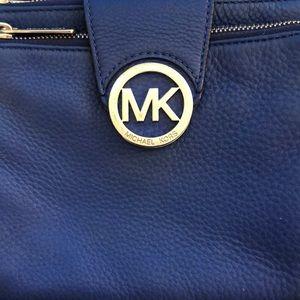 Blue Michael Kors Cross Body Bag